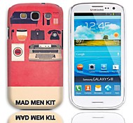 Mad Man Kit Pattern Hard Case with 3-Pack Screen Protectors for Samsung Galaxy S3 I9300