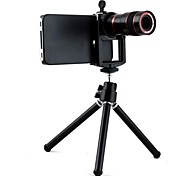 Optical 8X Zoom Telescope Lens Manual Focus with Hard Case and Stand Tripod for iPhone 4/4S