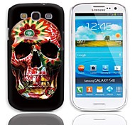 Colorful Skull Pattern Hard Case with 3-Pack Screen Protectors for Samsung Galaxy S3 I9300