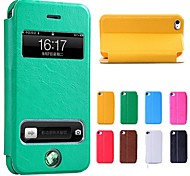 New Smart Luxury Flip Leather Cover Case for iPhone 5/5S(Assorted Colors)