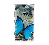 Kinston Blue Butterfly TPU Patrón Soft Case para Nokia Lumia 520