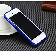 Solid Color 0,7 mm Metallstoßdämpfer für iPhone5/5S