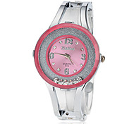 Women's Rolling Diamante Round Dial Alloy Band LCD Digital Fashion Watch (Assorted Color)