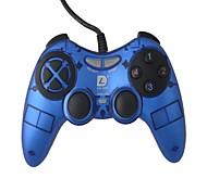 Gamepad del regulador del juego de la vibración Dilong dual-shock USB para PC Games - Azul