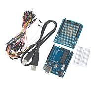 UNO R3  Board  Expansion Board / Mini Bread Board  Jumper Cables Set for (For Arduino)