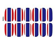 2014 drapeau 3D les plus populaires Nail Patch Art Stickers Décoration
