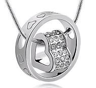 Pendentif de collier Forme de Coeur Strass Alliage Cœur Bijoux Pour Soirée Quotidien