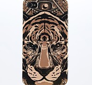 A Fierce Tiger Pattern Soft TPU IMD Case for iPhone 4/4S