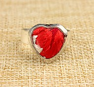 New Style Red Heart Hand Embroidery Women's Ring(1 Pc)