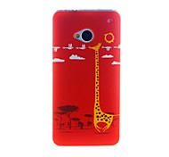 For HTC Case Pattern Case Back Cover Case Animal Soft TPU HTC