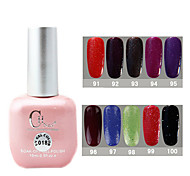1PCS CH Soak-off Pink Bottle Glitter UV Color Gel Polish NO.91-100(15ml,Assorted Color)