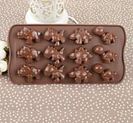 22 centímetros * 11,2 centímetros caixa de cor * 2m silicone ambiental dinossauro em forma de bolo / molde de chocolate