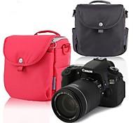 Neppt 2014 New Design Bolsa de Ombro para Nikon D600 D800 Canon 60D 70D 600D 700D SLR Camera Bag (vermelho / cinza)