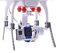 HJ 2-Axis Gopro 1/2/3 Brushless Gimbal PTZ w/BGC3.1 2-Axis Controller for Multicopter FPV in White