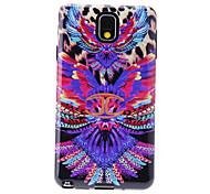 Fantasía Gorgeous Pintura Patrón Anti-Shock Volver Funda suave para Samsung Galaxy Nota 3 N9000