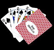 Patrón regalo personalizado Pink Rhombus Playing Card para Poker