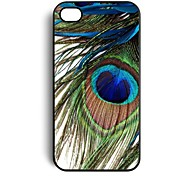 Peacock Feather Pattern Plastic Hard Case for iPhone 4/4S