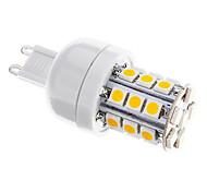 3W G9 Bombillas LED de Mazorca T 27 SMD 5050 350 lm Blanco Cálido Regulable AC 100-240 V