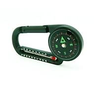 2-in-1 Thermometer Kompass Karabiner - Schwarz