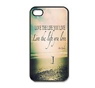 Liebe das Leben, das Sie leben Muster Kunststoff Hard Case für iPhone 4/4S