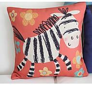 Cute Zebra Pattern Car Auto Seat Back Cushion Cuddle Pillow Sofa Soft Cushion