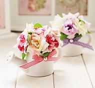 "4""H Spring Scenery Small Rose Arrangement (Color Sent Randomly)"