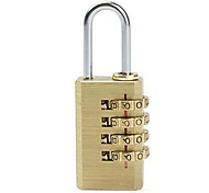 04K Copper Luggage PIN Combination Pad Lock with 4 Password - Antique Brass