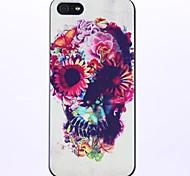 Motif de fleur avec une caisse d'os dure de PC pour l'iPhone 5/5S