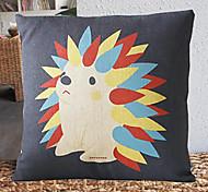 Bonito Padrão Hedgehog decorativa fronha