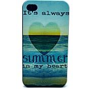 Sommer und Meer Muster PC Hard Case für iPhone 4/4S