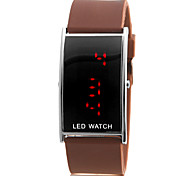 Men's Red LED Digital Silicone Band Wrist Watch (Assorted Colors)