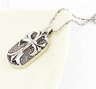 Fashion  Roman Style Cellular Titanium Steel Pendant Necklace