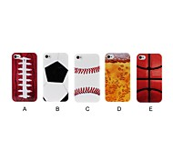 Sports Ball Pattern Plastic Hard Case for iPhone 4/4S