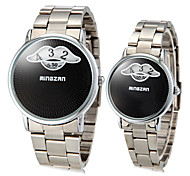 Couple's Vintage Mustache Pattern Round Dial Alloy Band Quartz Analog Fashion Watch(Assorted Color) Cool Watches Unique Watches
