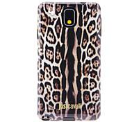 Modelo de la piel del leopardo de Anti-Shock Volver Funda suave para Samsung Galaxy Nota 3 N9000