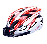 Casco da bicicletta FJQXZ EPS + PC Rosso e Bianco Integralmente-stampato (18 Vents)