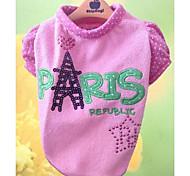 Dog Shirt / T-Shirt Green / Pink Summer Sequins