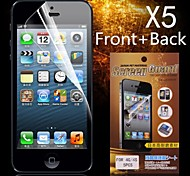 Protective HD Front + Back  Screen Protector for iPhone 4/4S(5PCS)