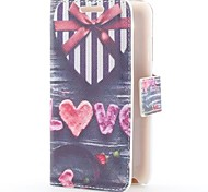 Heart Shape Gift Box Style Leather Case with Card Slot and Stand for Samsung Galaxy S Advance i9070