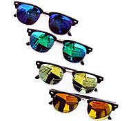 Unisex Colorful Lens Metal Frame  UV400 Protection Sunglasses