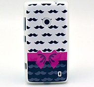 Mustache Bow Pattern TPU Soft Case for Nokia Lumia N520