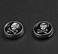 Cráneo Negro Punk pendientes magnéticos (1 par)