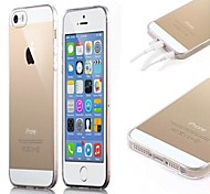 Transparent Soft Case with Dust Plug for iPhone 5/5S