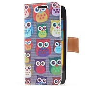 Eulen-Art-Leder-Kasten mit Kartensteckplatz und stehen für Samsung Galaxy S Advance i9070