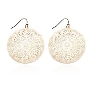 Lureme®Hollow out Disk Drop Earring