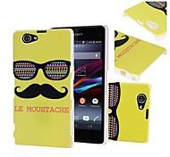 Verde Le Moustache & Glasses cubierta de plástico duro caso para Sony Xperia Z1 Z1 MINI Compacto D5503
