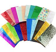 10PCS Mix Colors Laser Foil Nail Decorations Starry Nail Stickers(Random Color)