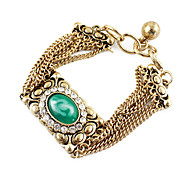 Green Gem Multilayer Bracelet