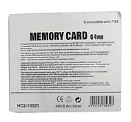 CMPICK Plastic Memory Card for PS2 - Black (64MB)