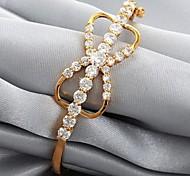 u7® bowknot brilho AAA + cúbico manguito zircônia pulseiras de alta qualidade banhado a ouro 18k pulseiras jóias para as mulheres